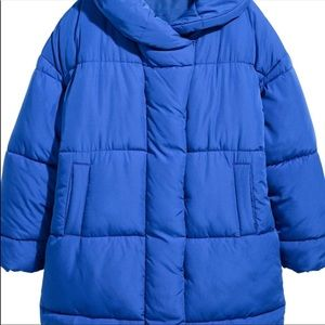 H&M PADDED BLUE PUFFER JACKET SIZE 6